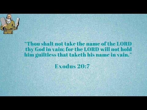 9-9-2021 The Terrifying Third Commandment