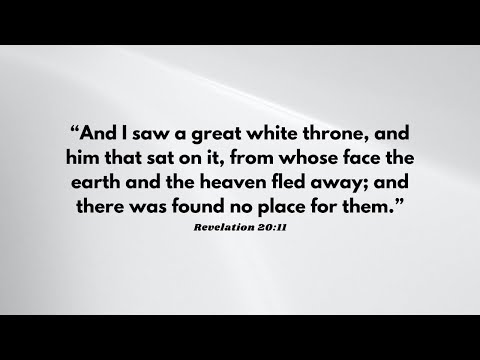 10-13-2021 The Great White Throne Judgment