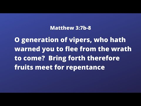 Fruit Worthy Of Repentance